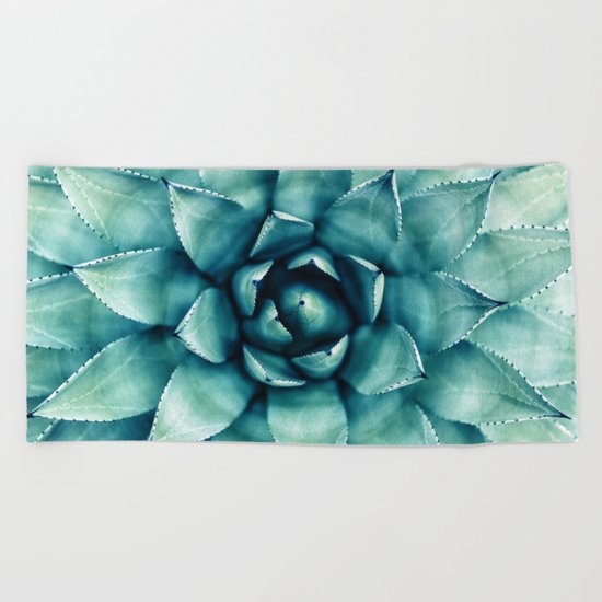 Succulent Beach Towel