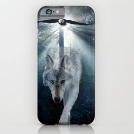 The Gathering - Wolf and Eagle iPhone Case