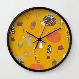 Fall Critters Wall Clock
