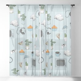 Friday Night Party {for introverts} Sheer Curtain