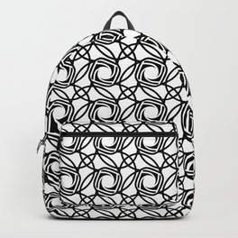 SHUTTER classic black and white minimalist camera lens pattern Backpack