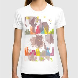 """""""the wolf in the town"""" T-shirt"""