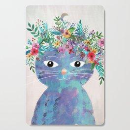Flower cat II Cutting Board