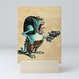 Alien Cowboy Mini Art Print