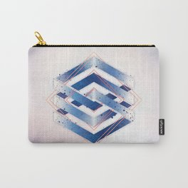 Floating Geometry :: Winter Hexagon Carry-All Pouch