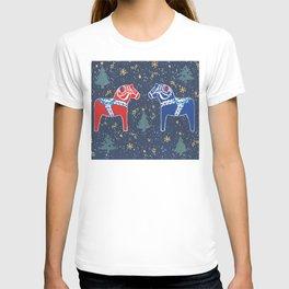 Dalecarlian Dala Horses T-shirt