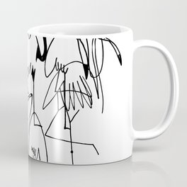 handrawn flamingo Coffee Mug