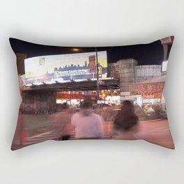 Flushing, NY Night Life Rectangular Pillow
