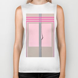 In the Pink - pink graphic Biker Tank