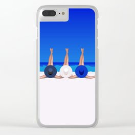 Enjoy Summer Clear iPhone Case