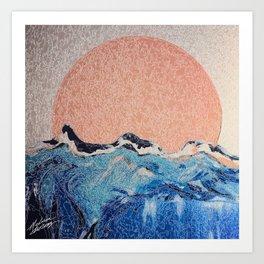 Sun of a Harvey - Storm Struggle Inspo - Acyrlic Painting Art Print