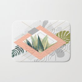Abstract geometrical and botanical shapes I Bath Mat