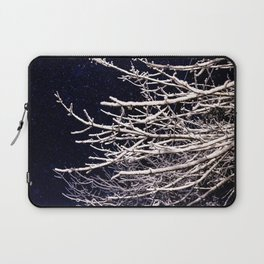 Snow Covered Tree Branches Laptop Sleeve