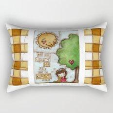 Be the Light (with dog) Rectangular Pillow