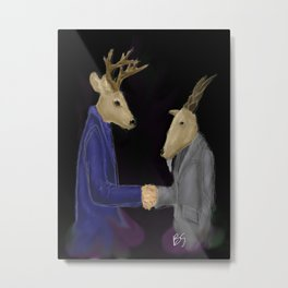 The Agreement Metal Print
