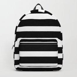 Wide Horizontal Stripe: Black and White Backpack