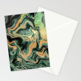 DRAMAQUEEN GOLD EMERALD by Monika Strigel Stationery Cards