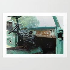 Old Ford Truck - Inside Scoop Art Print