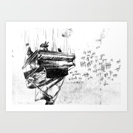 Piano Death Art Print