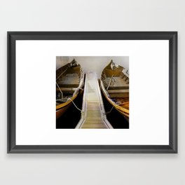 Side by Side- In the Shadows or in the Light! Framed Art Print