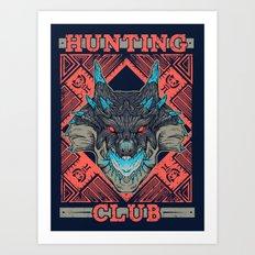 Hunting Club: Abyssal Lagiacrus Art Print