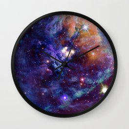 Bright nebula Wall Clock