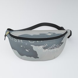 D-Day Operation overlord Military poster Fanny Pack