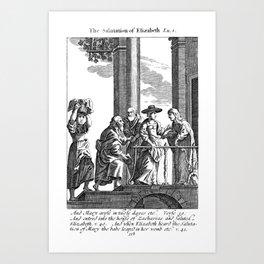 John Jumps in Elizabeth's belly Art Print