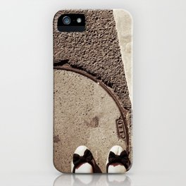walk a mile in her shoes. iPhone Case