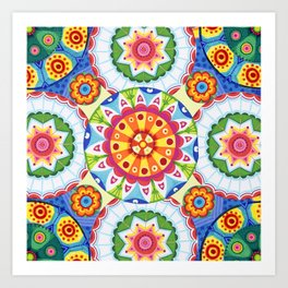 pop flowers Art Print