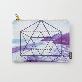 The Elements Geometric Nature Element of Water Carry-All Pouch