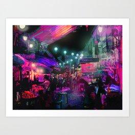 Tunes of the Night Art Print