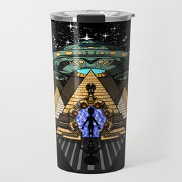 Egyptian Pyramids Alien Abduction UFO Travel Mug