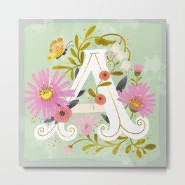 Artsy Alphabet Metal Print