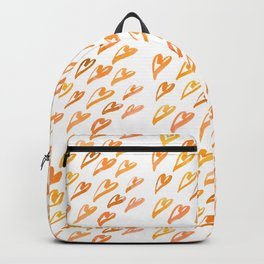 Geometric pattern with hearts - orange Backpack