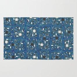 Blue tech Rug
