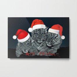 Christmas Cubs Metal Print