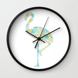 Flamingo Triangulation Wall Clock