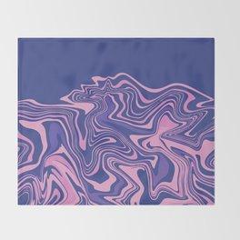 Purple & Navy Agate Slice Throw Blanket