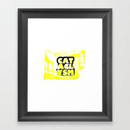 Cataclysm Yellow Print Framed Art Print