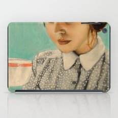 It Was Over Her Second Cup of Coffee That Josephine Decided To Give Herself the Day Off iPad Case