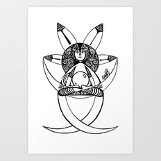in post-meditation, be a child of illusion Art Print