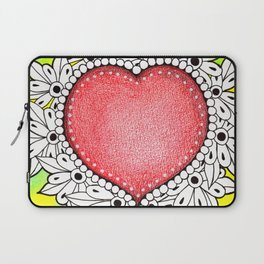 Watercolor Doodle Art | Heart Laptop Sleeve