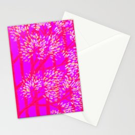 Neon Lilac Trees Stationery Cards