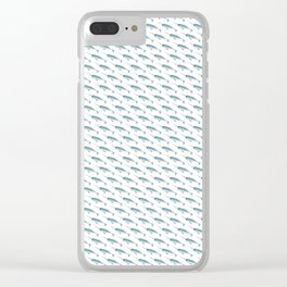 Narwhal on White Clear iPhone Case