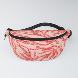 Red Coral Ferns Fanny Pack