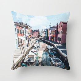 Venice inception by GEN Z Throw Pillow