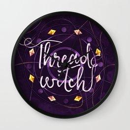 Thread Witch Wall Clock