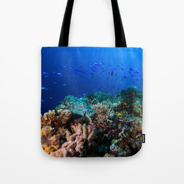 Coral Sea Print Tote Bag