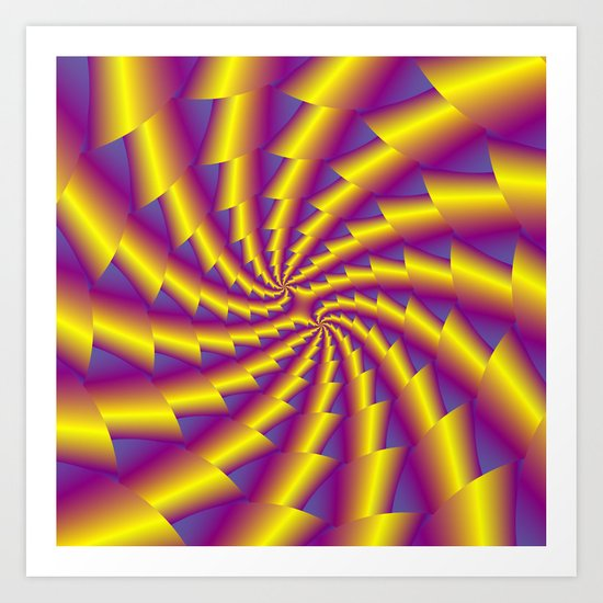 Golden Whirl Art Print